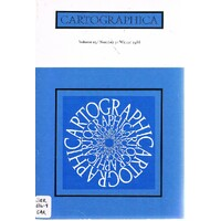 Cartographica (Volume 25. Number 3. Winter 1988)