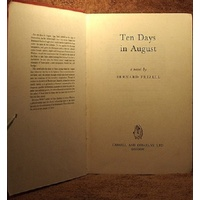 Ten Days in August. A Novel of Paris