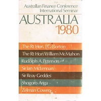 Australia - 1980. Australian Finance Conference International Seminar