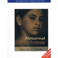 Abnormal Psychology. An Integrative Approach