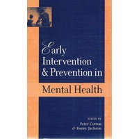 Early Intervention And Prevention Mental Health
