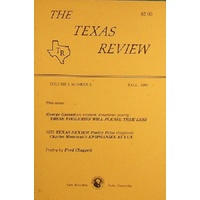 The Texas Review. Volume 1, Number 2