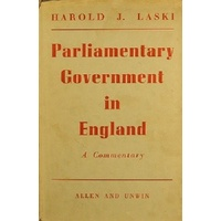 Parliamentary Government In England