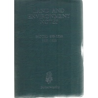 Land And Environment Notes. Notes 1853-1759, 1981-1985.