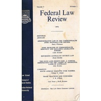 Federal Law Reform. Volume 5. Number1