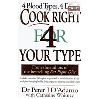 Cook Right For Your Type. 4 Blood Types, 4 Diets