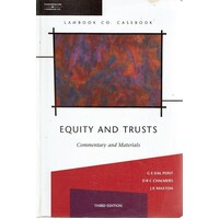 Equity And Trusts. Commentary And Materials