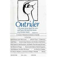 Outrider. A Journal Of Multicultural Literature In Australia