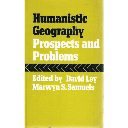 Humanistic Geography. Prospects And Problems